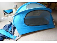 Nomad travel cot tent with inflatable mattress