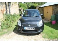 2008 Black Suzuki Swift, Less than 75000 miles 4 Prev. Owners, 8 Service Stamps, 12 Months M.o.T