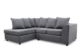NOW IN CHARCOAL GREY Dylan Byron New Jumbo Cord Or Non-Corded Corner or 3+2 Seater Sofa