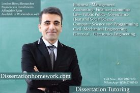 finance dissertation tutors