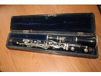 old french wooden clarinet