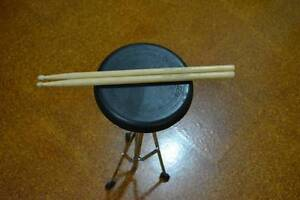 """Billy Hyde 8"""" Rubber Practice Pad with PowerBeat Stand and Sticks Mount Ommaney Brisbane South West Preview"""