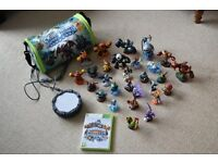 Skylanders Giants characters, portal and XBox 360 game and storage case