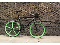 JanuarySale GOKUCYCLES Steel Frame Single speed road bike track bike fixed gear racing fixie green