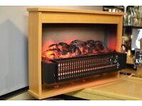 Fire Surround - New. Dimplex 316 CHE. Convector Fuel Effect Fire , Cherry Finish. 2kw
