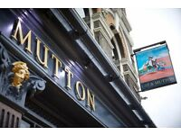 Bar Back needed for Hackney's Cat and Mutton