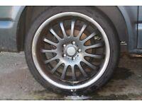 "Wheels for T5 20"" graphite alloys"