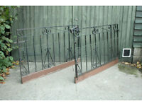 Wrought iron gates with mesh for pet dogs etc home security