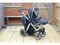 BabyStyle Oyster Max OM2 tandem double buggy pushchair