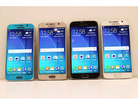 SAMSUNG GALAXY S6 BLACK, WHITE, BLUE, GOLD GRADE A - SIM FREE UNLOCKED TO ANY NETWORK