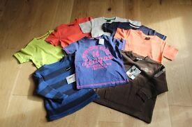 Boys age 4 clothes bundle, all BNWT, eight tops