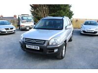 Kia Sportage XL, 2007, Silver, Mot'd, Serviced, Two keys, 4x4, Towbar, Timing belt done.