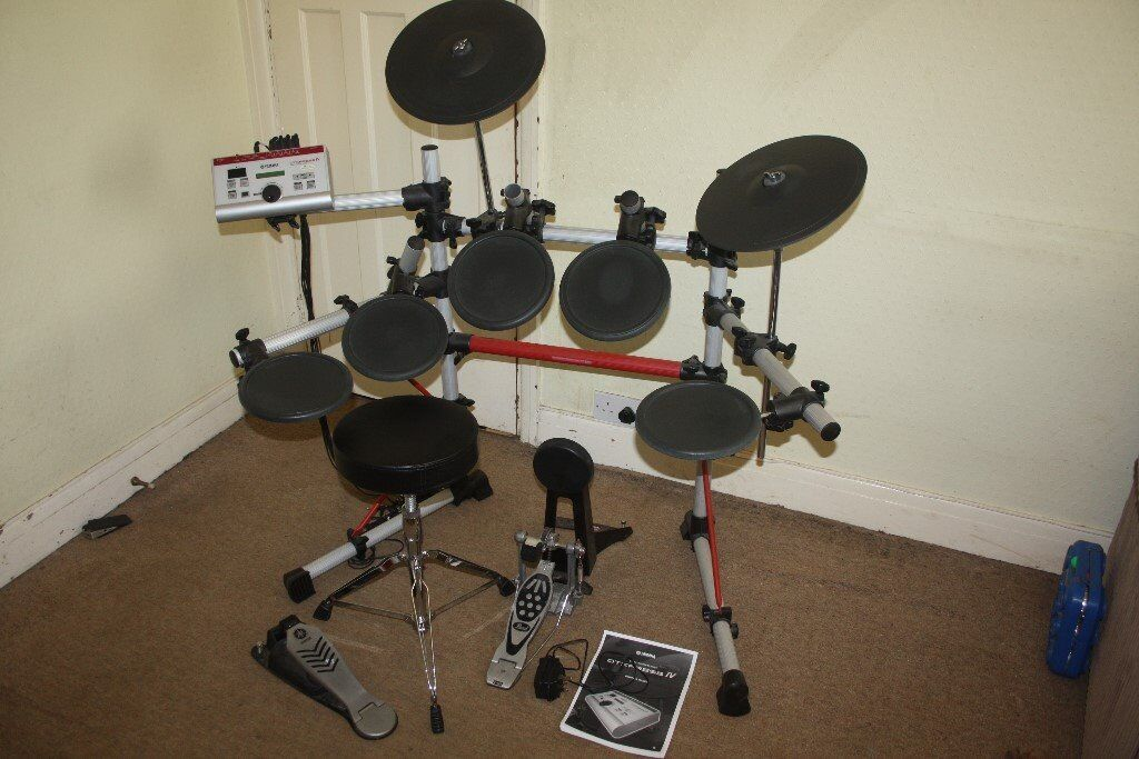 Yamaha dtxpress iv standard electronic drum kit in for Yamaha drums electronic