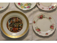 Mixed lot of vintage English tableware, cups, saucers, tea plates (booths, royal albert etc)