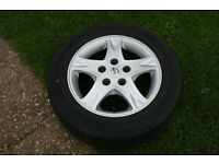 "Nissan Almera Tino Alloy Wheel And Tyre 15"" 185/65/15"