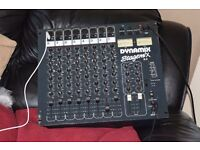 DYNAMIX 8 CHANNEL DJ MIXER AUX CAN BE SEEN WORKING