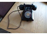 VINTAGE 1950S GPO/BT 312 BLACK BAKELITE TELEPHONE