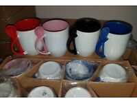 113 pc mugs for sublimation, polimer clay, etc.