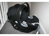 Mamas and Papas Cybex Aton Q Black baby car seat CAN POST