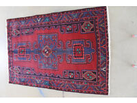 Hand made persian carpet Hamedan/Iran cleaned an washed 189cm X 130cm only £195