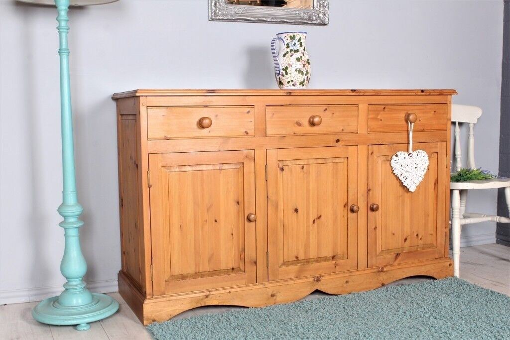 Delivery Options 5 Ft Solid Pine Sideboard Quality Made Dovetail Tongue Groove