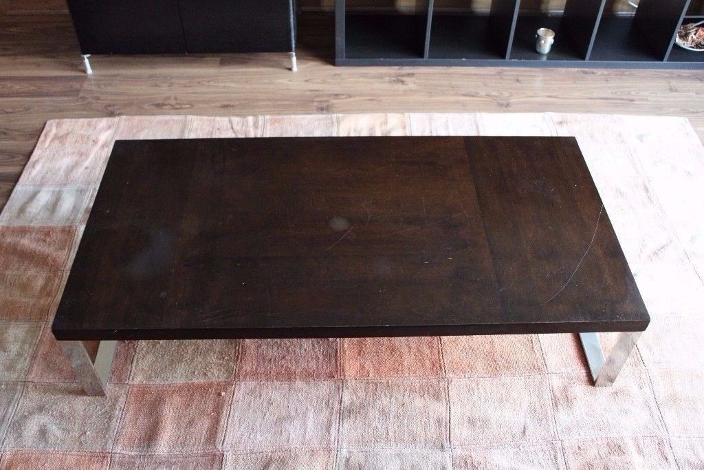 Dark Wood Coffee Table -- great condition