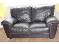 Set leather sofas, 2 and 3 seater.