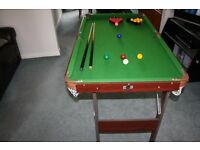 "Pot Black Folding Snooker / Pool Table 54"" x 30"""