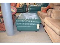 Green Leather Stool GT 547