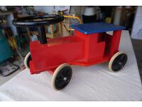 Brio Vintage Wooden Sit-on Toy Train