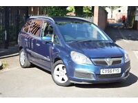 2006 VAUXHALL ZAFIRA LIFE 1.6 PETROL 7 SEATS,LOW MILEAGE,PARKING SENSORS, TINTED WINDOWS,ALLOYS,
