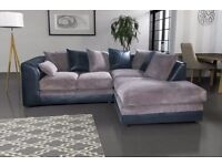 Dylan Corner or 3+2 Seater Brand New Fabric Sofa