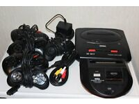 Sega Mega Drive 2 with master system converter, 44 games, 6 controllers £165 open to offers
