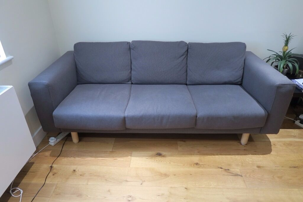 three 3 seat ikea norsborg dark grey sofa nearly new in reigate surrey gumtree. Black Bedroom Furniture Sets. Home Design Ideas