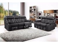 BRAND NEW RECLINER LEATHER SOFA CORNER OR 3+2 SEATER