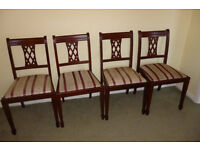4 Immaculate Dining Chairs - Almost Like New