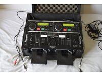 Numark CDMix 1 Dual CD Professional Mixing Console for DJ/Disco - Includes flight case!