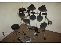 Yamaha DTXPLORER Electronic Drum Kit including Owner's Manual, Stool, Headphones and Drum Sticks