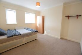 * 4 Large Rooms Available Now -in same flat. - 3 mins from station*