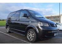 Stunning T30 130 TDi Shuttle, Full width rock n roll bed, tailgate, 2 sliding doors, Leather seating
