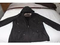 Per Una Ladies zipped Black Jacket with hood, fully lined.