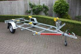 NEW Boat Trailer 5.0m 750kg - Adjustable Drawbar - Keel Rollers - Winch - Tema