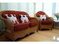 Conservatory Double Sofa and Single Matching Chair
