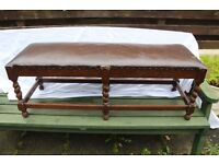 Antique Oak Bench Seat