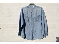"Topman Large Men's Light Denim Long Sleeved Shirt C48"" & N15 ½"""