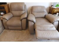 1 Harveys Electric Reclining Leather Armchairs (1 sold)