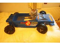 RALEIGH Monaco pedal car looks like a racing car old shop stock 1970s. (blue)