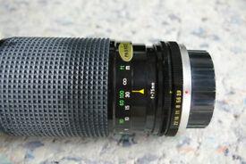 two pentax camera lenses