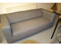 Ikea settee - Grey removable, washable cover, modern design