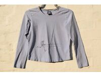 """Nike L Ladies Baby Blue Long Sleeve Fitted Sporty Running Top C36"""""""